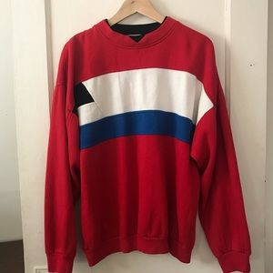 Vintage Willow Bay Color Block Pullover Sweatshirt